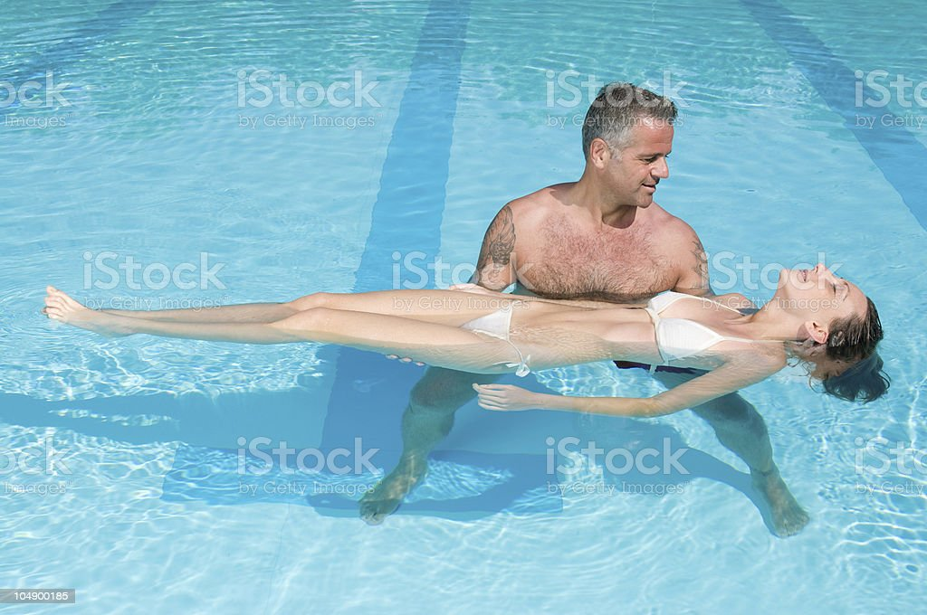 Relaxation in the water royalty-free stock photo