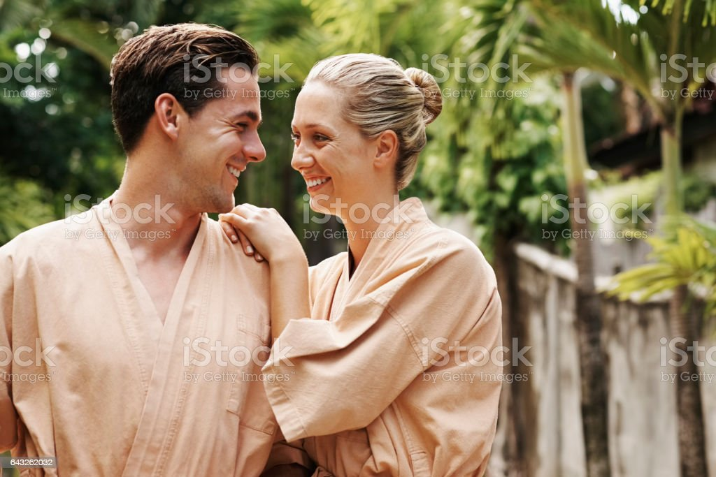 Relaxation is even better when it's shared stock photo