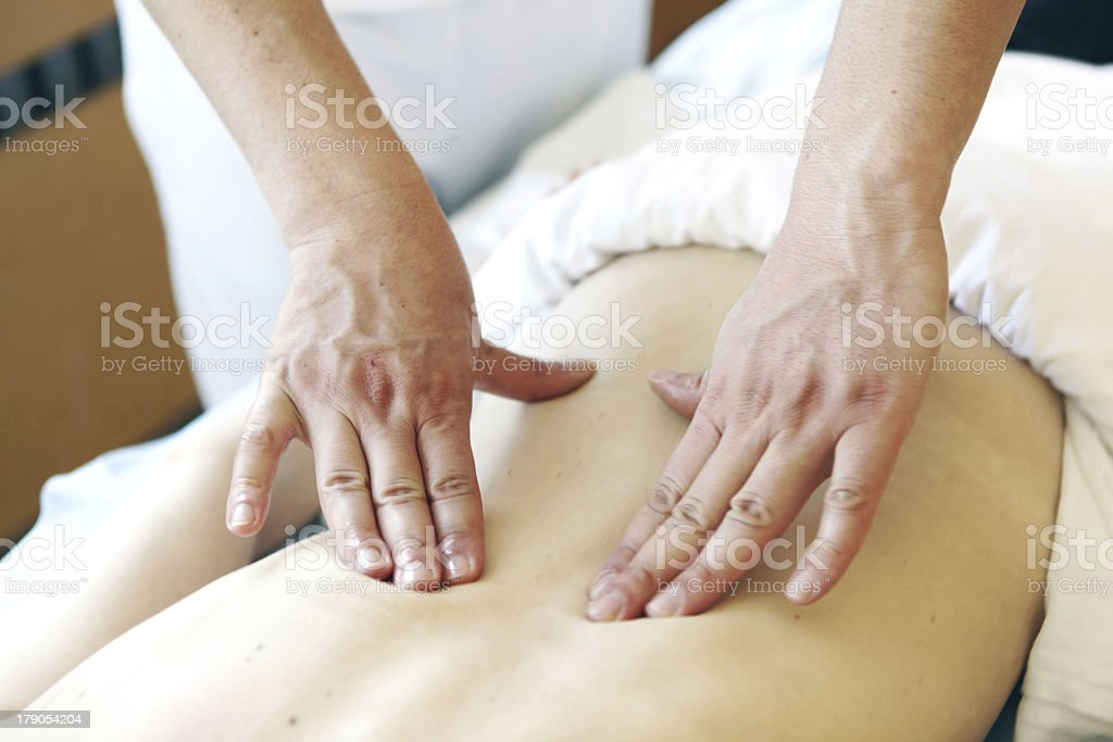 relaxation massage royalty-free stock photo