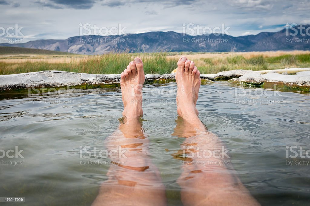 Relaxation Natural Hot Springs stock photo