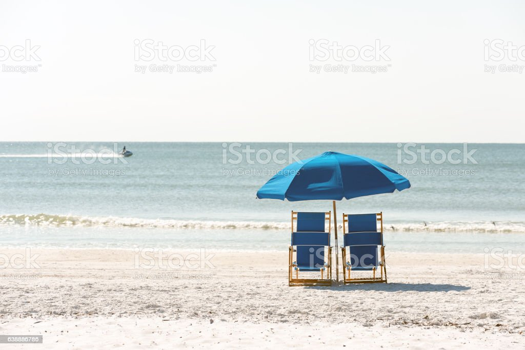 Relaxation on Floridian beach stock photo