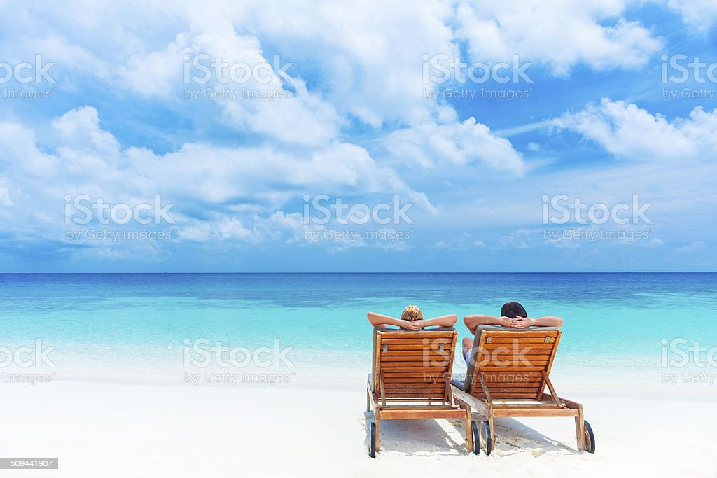 Relaxation on the beach stock photo