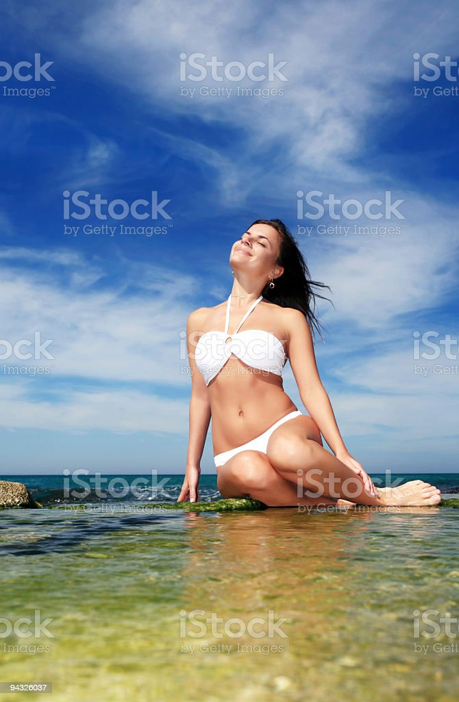 Relaxation on the beach. royalty-free stock photo