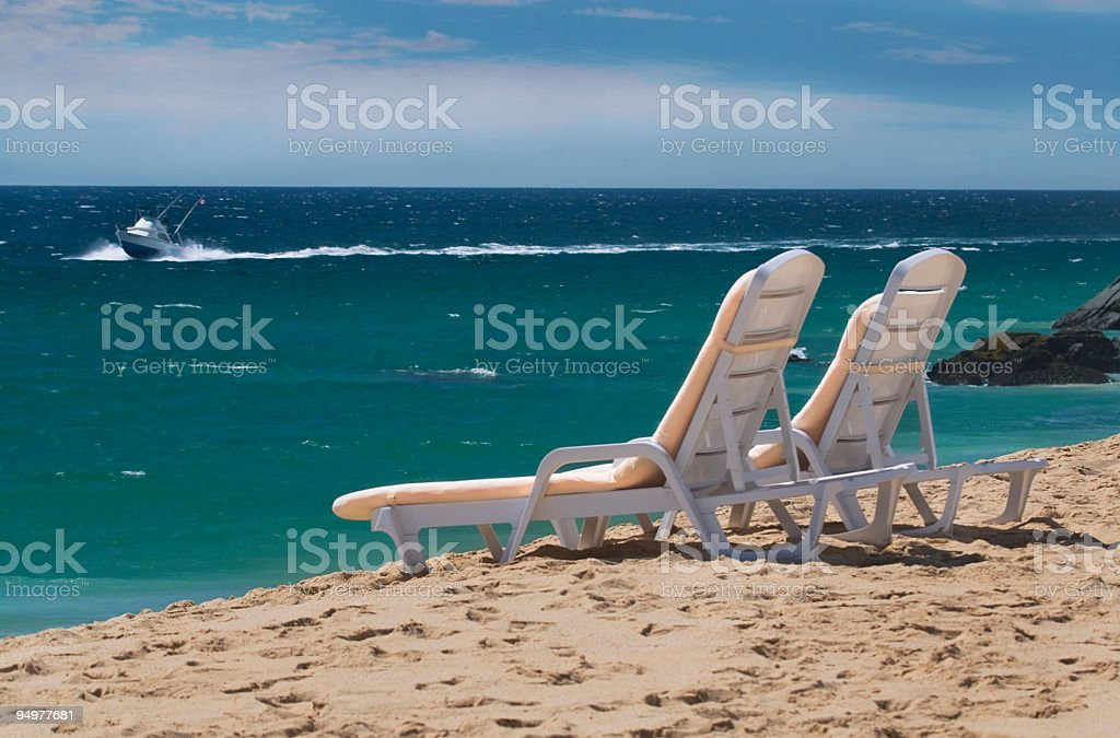 Relaxation on the Beach royalty-free stock photo