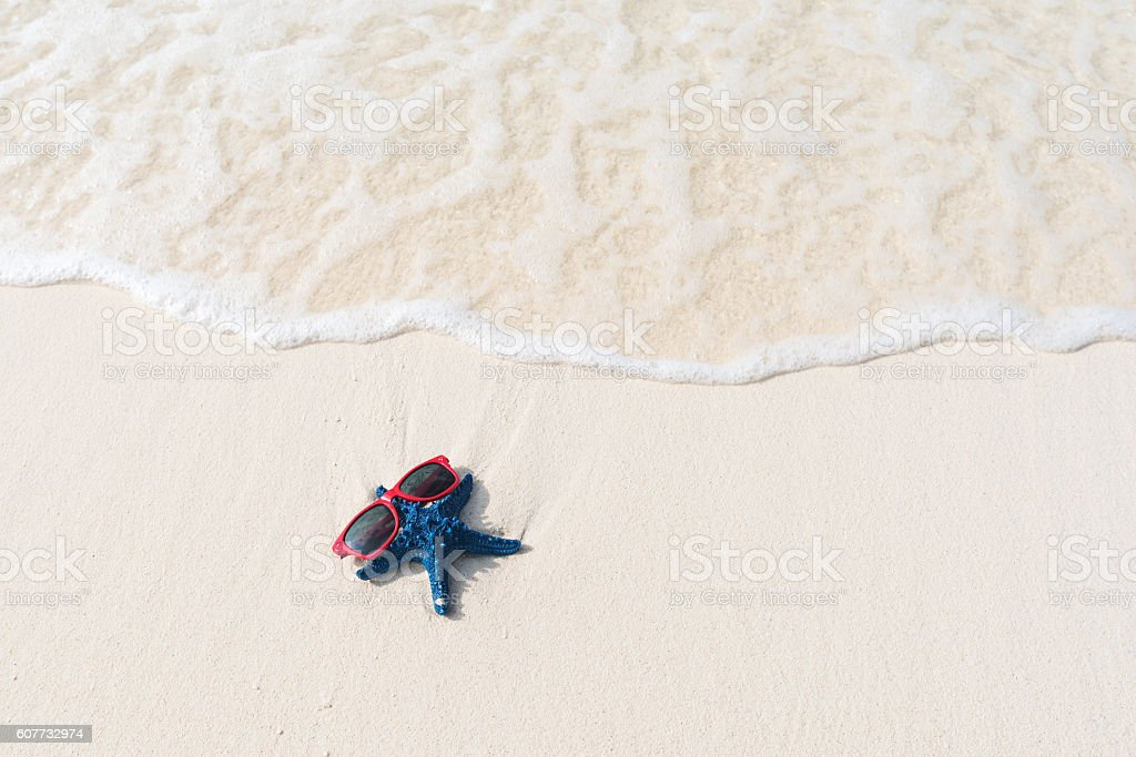 Relaxation on the sandy beach stock photo