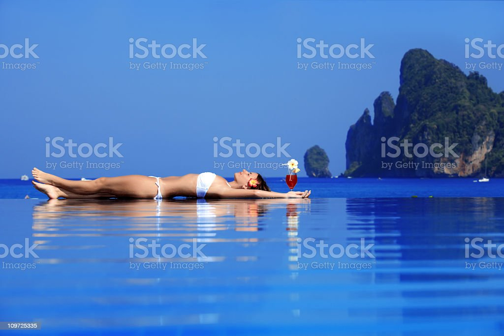 Relaxation on the water. royalty-free stock photo