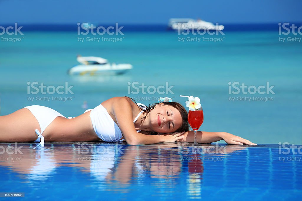 Relaxation on vocation. royalty-free stock photo