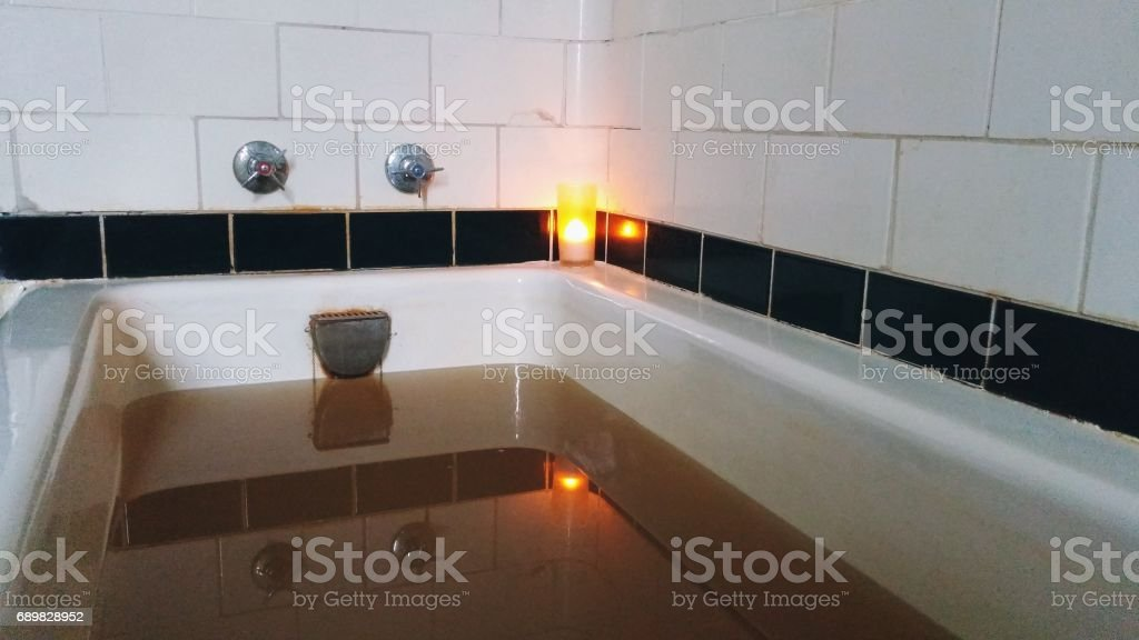 Relaxation Spa Iron Rich Natural Mineral Bath Tub Brown Water