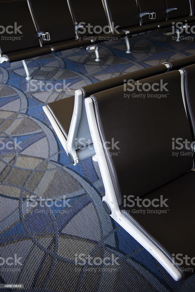 Relaxation time in the airport royalty-free stock photo