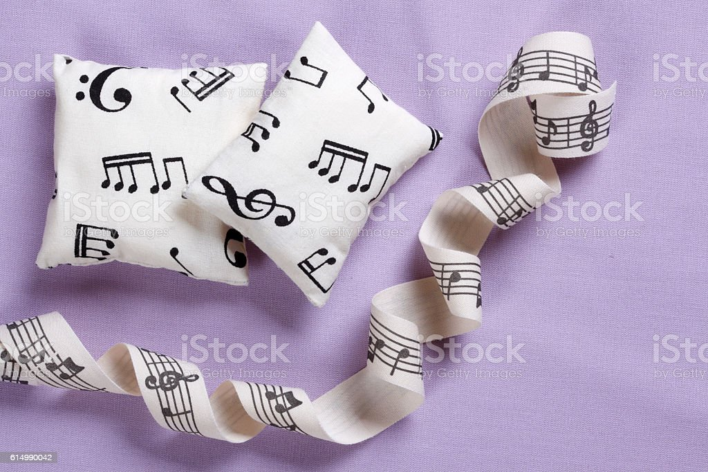 Relaxation with music stock photo