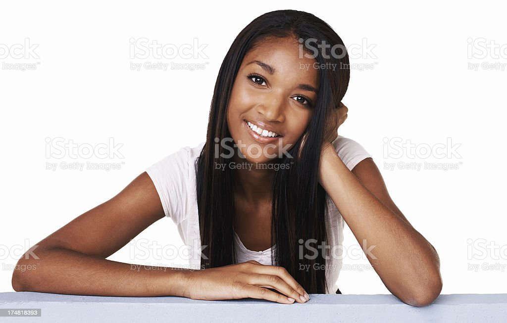 Relaxed and confident royalty-free stock photo