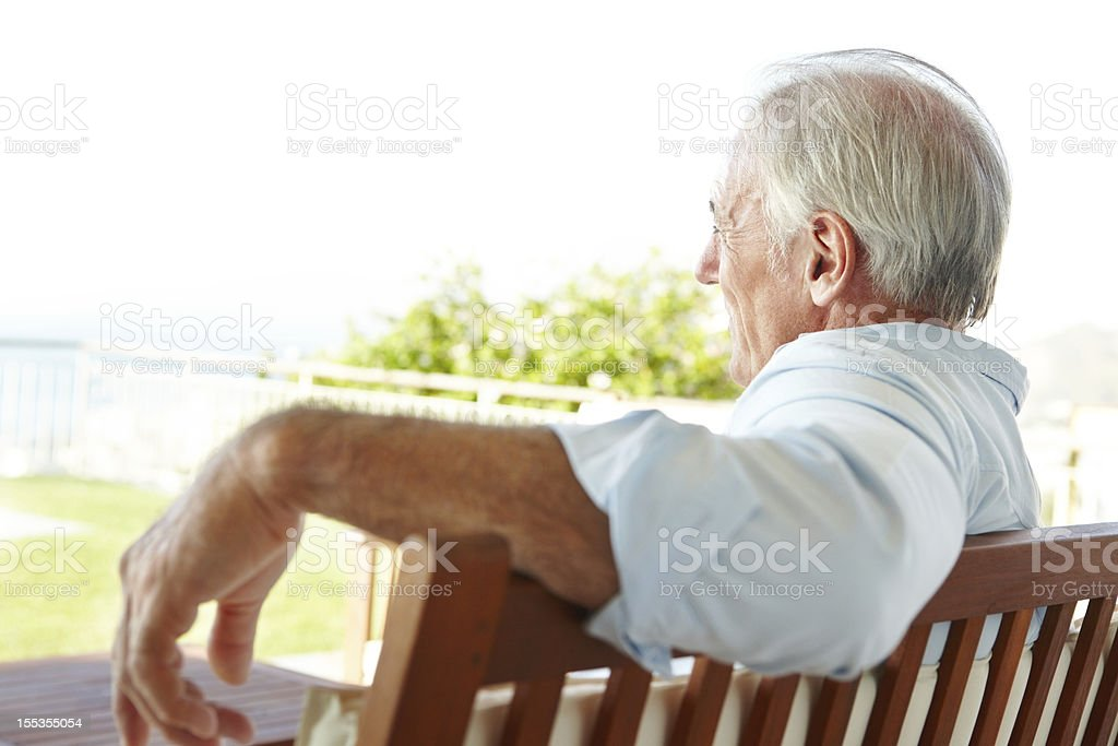 Relaxed and enjoying the view stock photo
