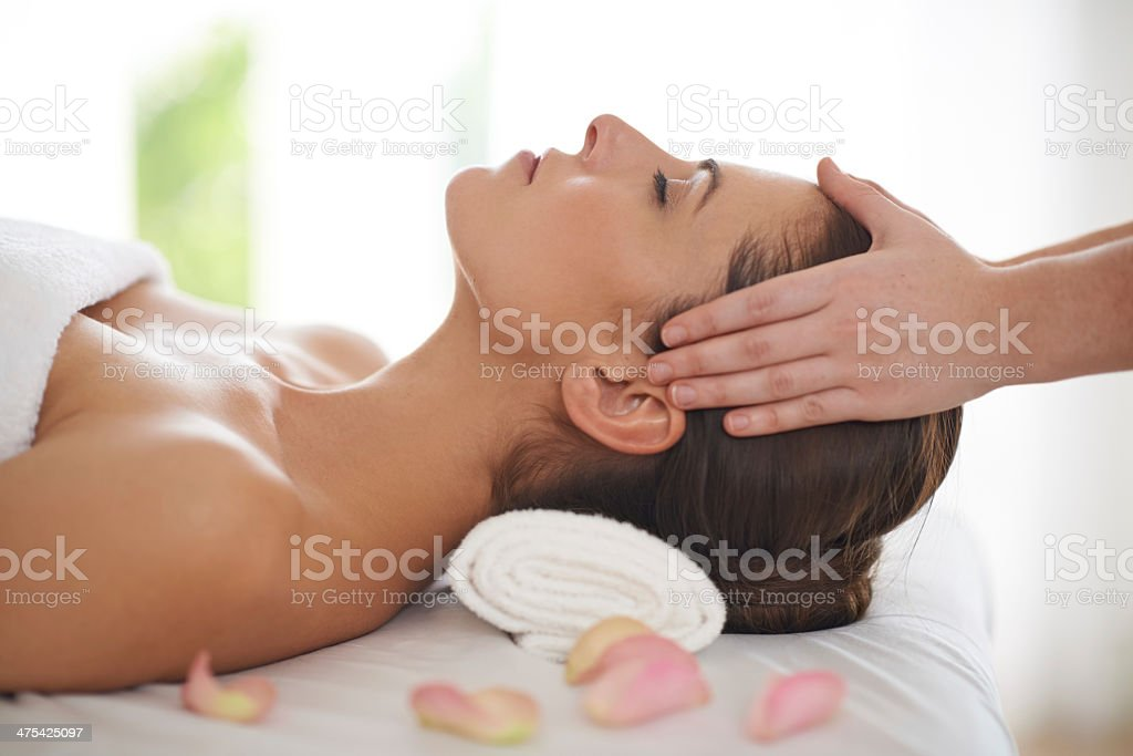 Relaxed as can be! stock photo