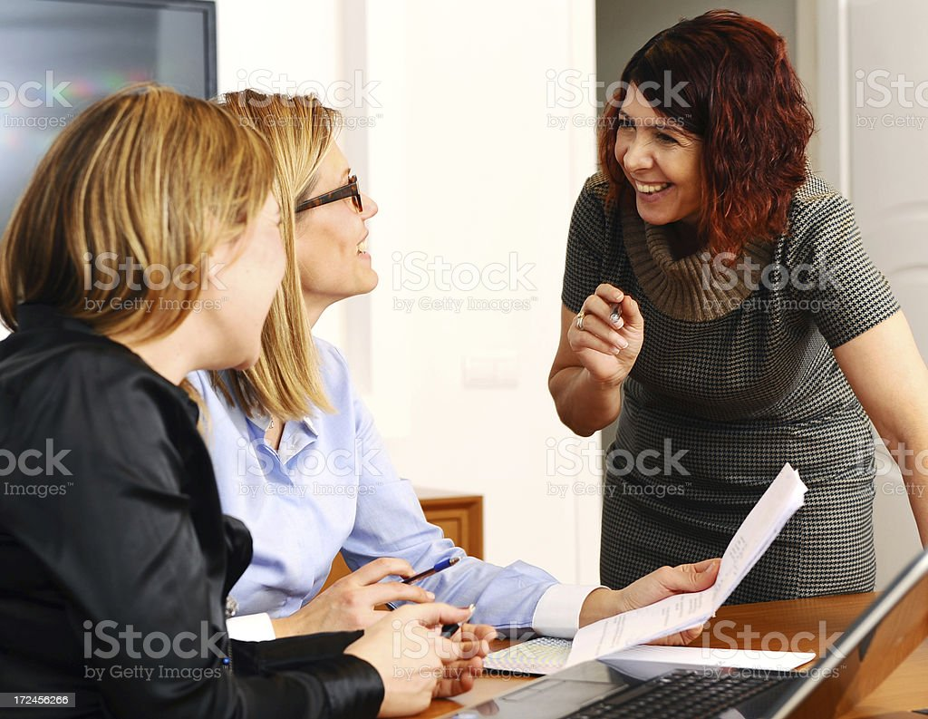 Relaxed atmosphere in the office royalty-free stock photo