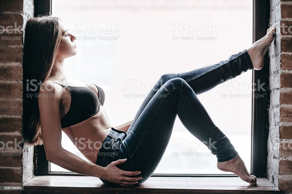 Relaxed beauty. stock photo