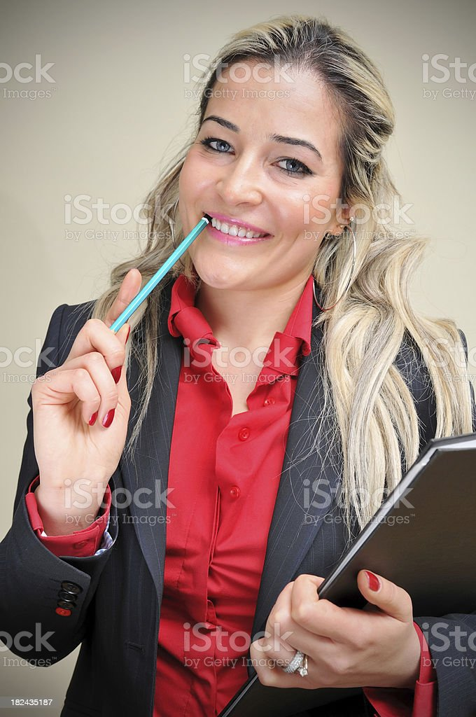 Relaxed Businesswoman royalty-free stock photo