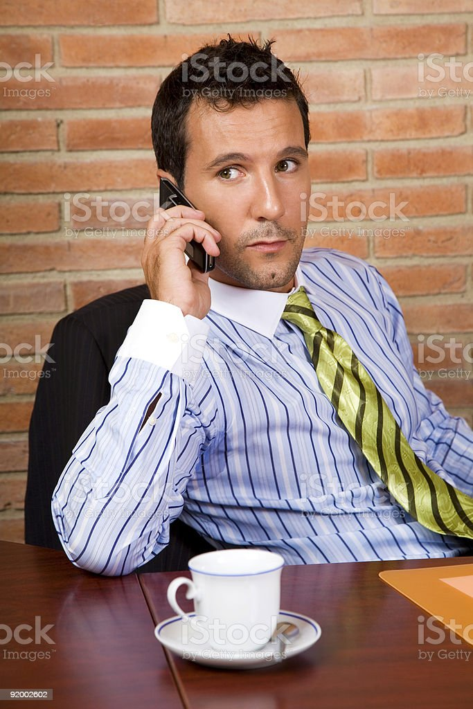 Relaxed call royalty-free stock photo