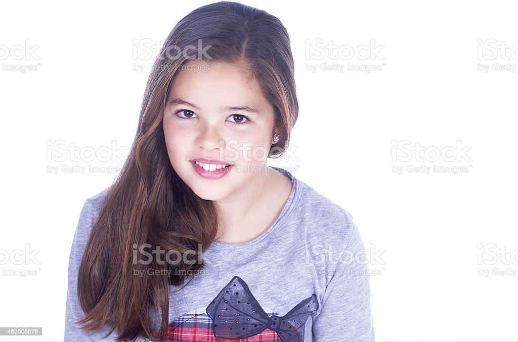 relaxed girl stock photo