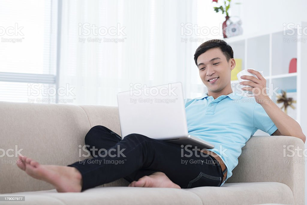 Relaxed guy royalty-free stock photo