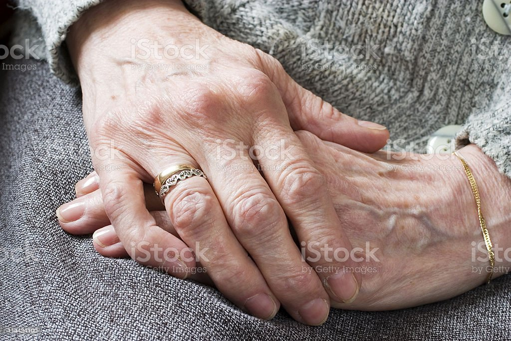 relaxed hands stock photo