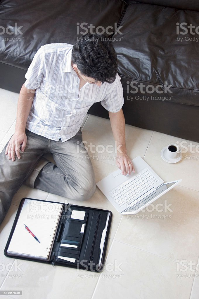 Relaxed Home Working royalty-free stock photo