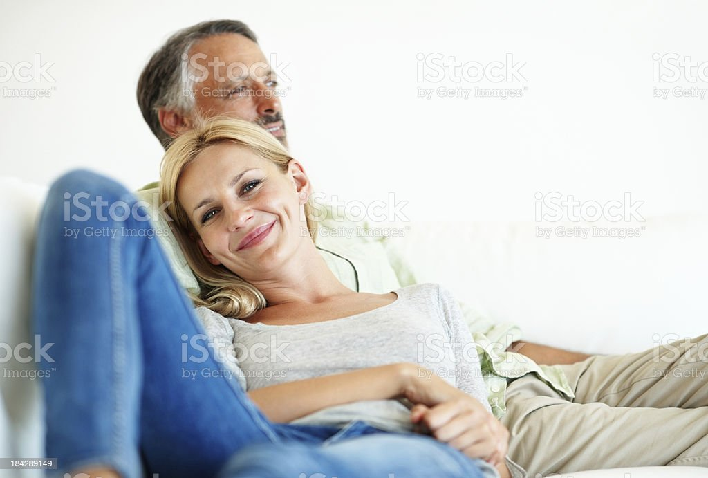 Relaxed man and woman royalty-free stock photo