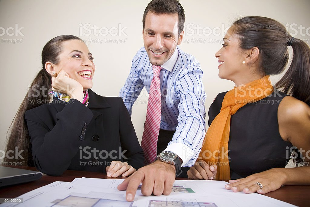 Relaxed meeting royalty-free stock photo