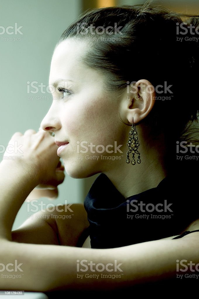 Relaxed model royalty-free stock photo