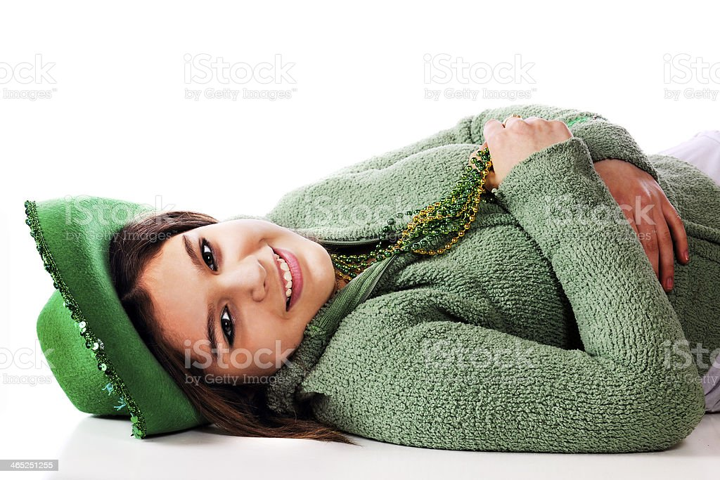 Relaxed on St. Patrick's Day stock photo