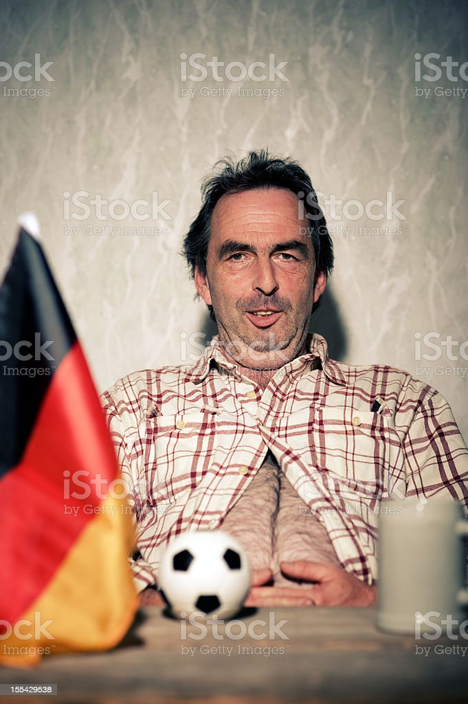 Relaxed  Self-Contented German Soccer Fan FIFA Wold Cup stock photo