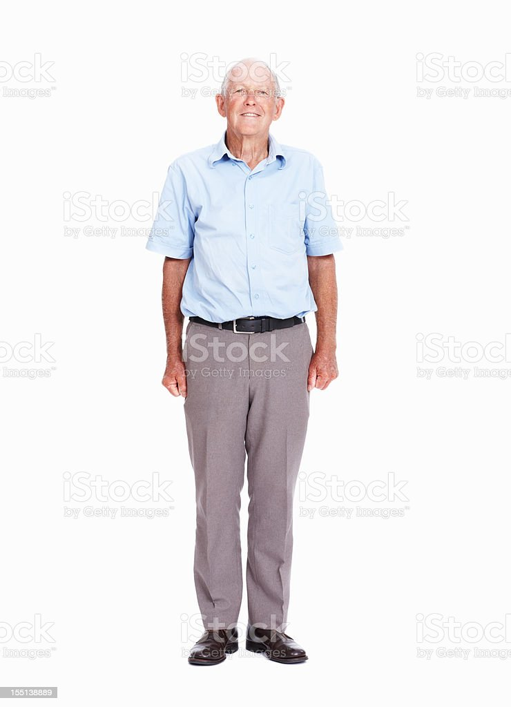 Relaxed senior man stock photo