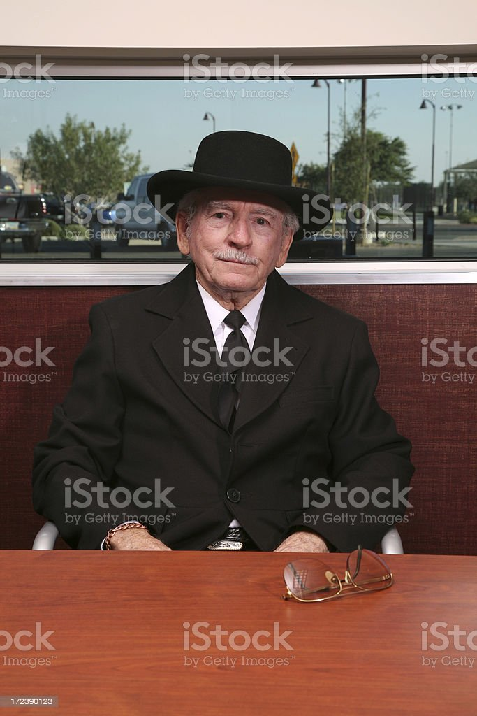 Relaxed Senior. royalty-free stock photo