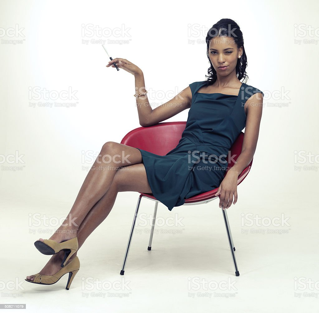 Relaxed sophistication stock photo