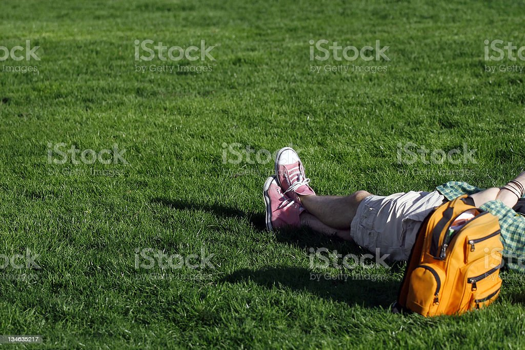 Relaxed Student stock photo