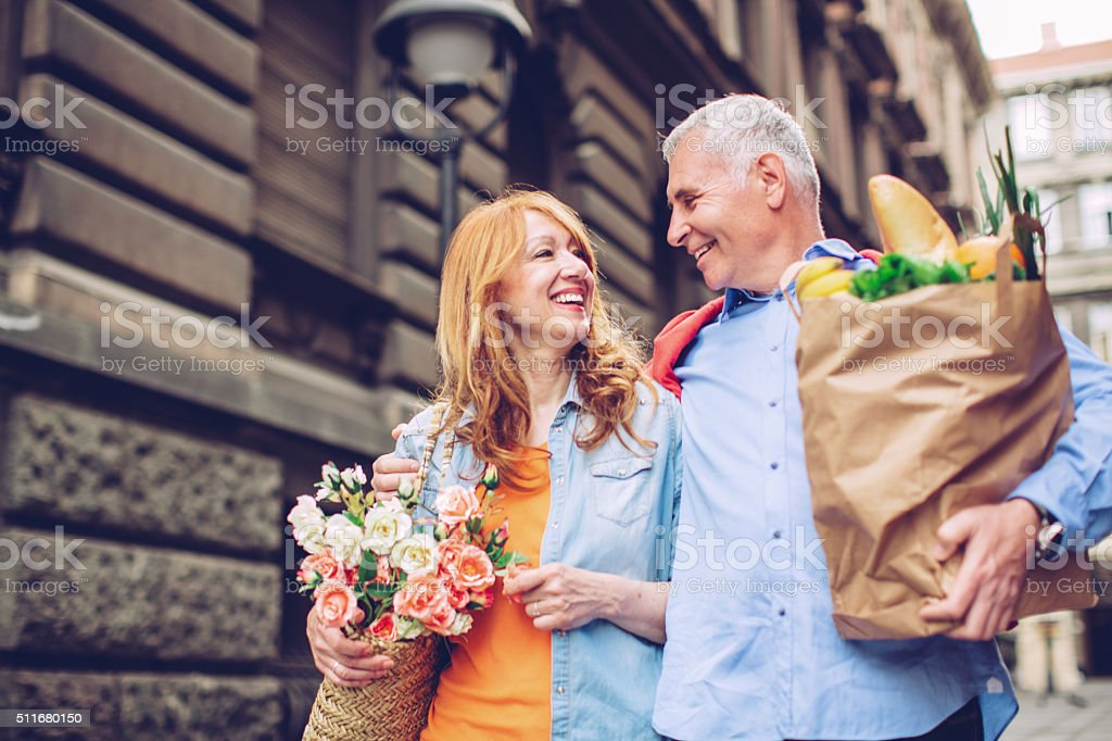 Relaxed weekend mornings stock photo