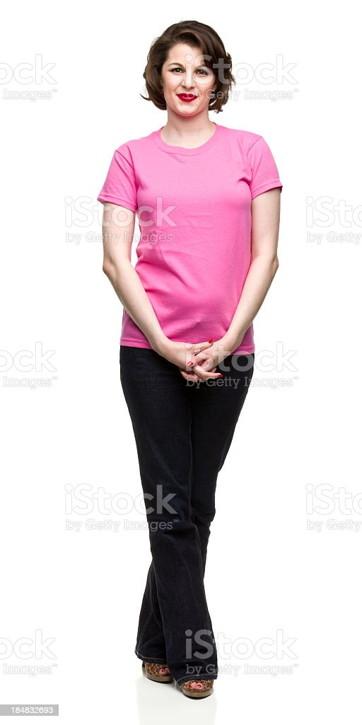 Relaxed Woman Posing stock photo