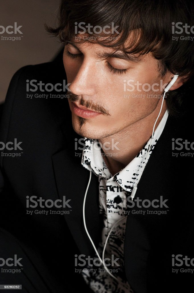 Relaxed young man royalty-free stock photo