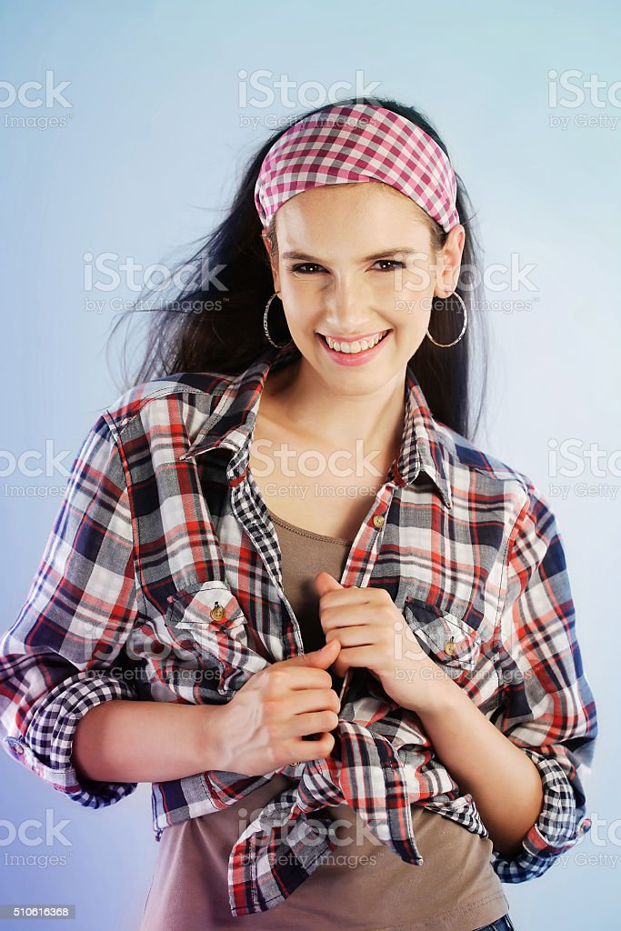 Relaxed young woman stock photo