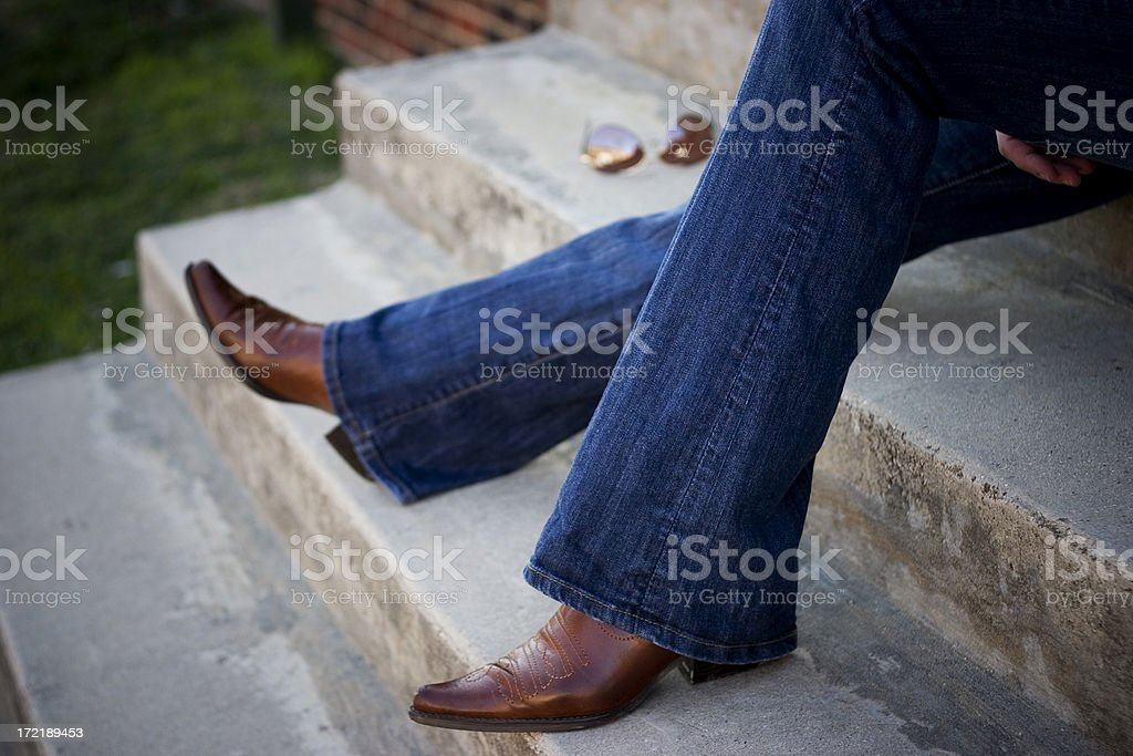 relaxin boots stock photo