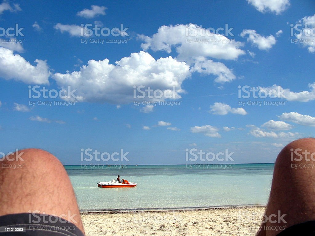 Relaxin' on the Beach royalty-free stock photo