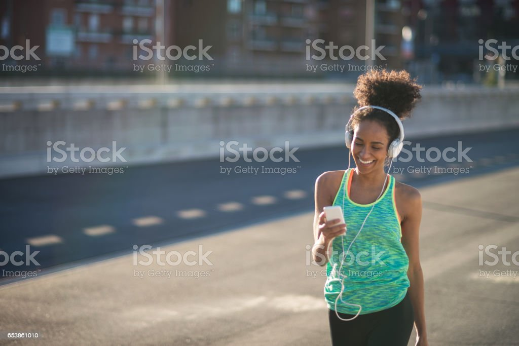 Relaxing after work out stock photo