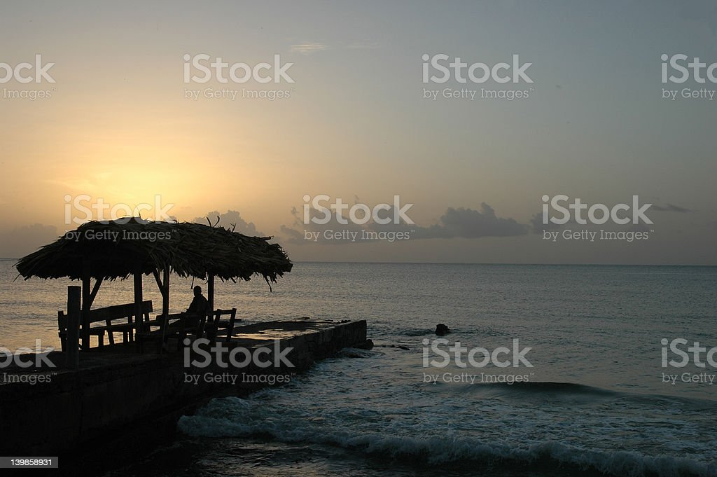 Relaxing at Dusk royalty-free stock photo