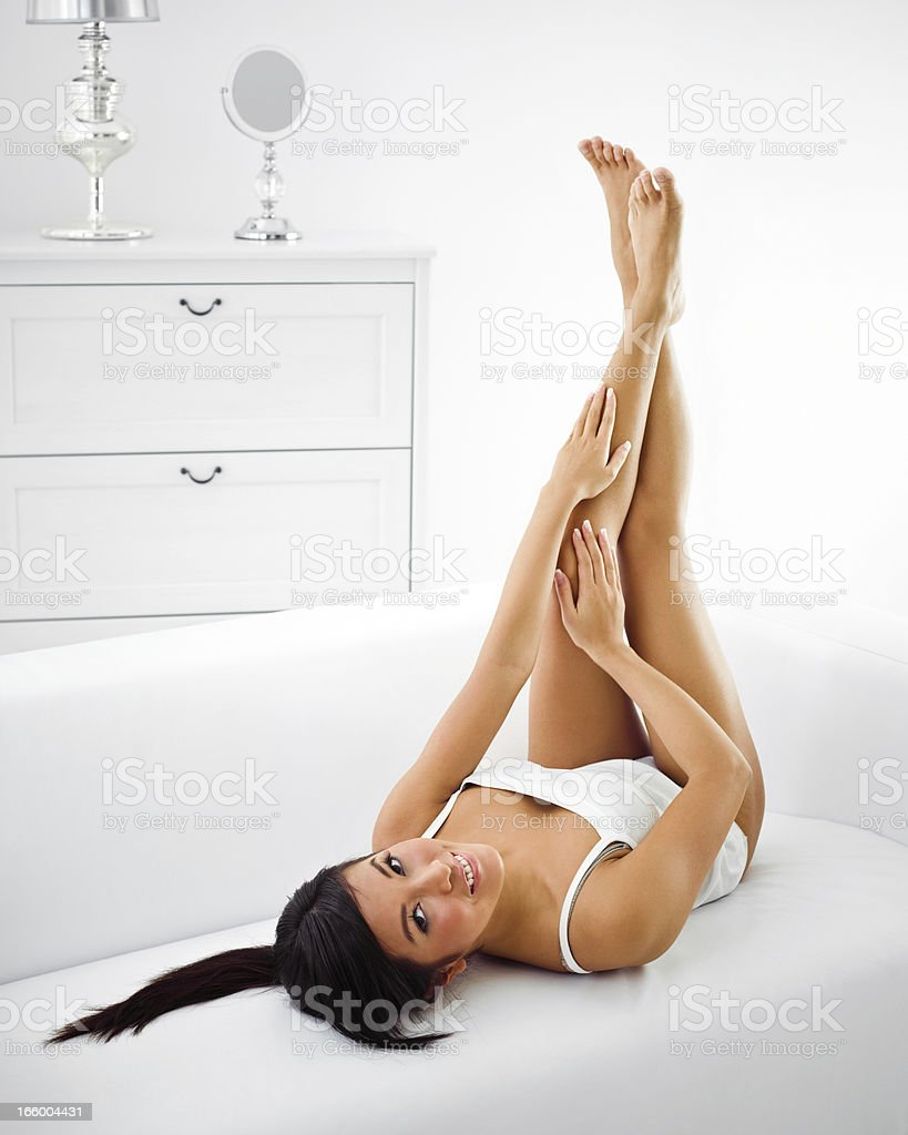 Relaxing at home royalty-free stock photo