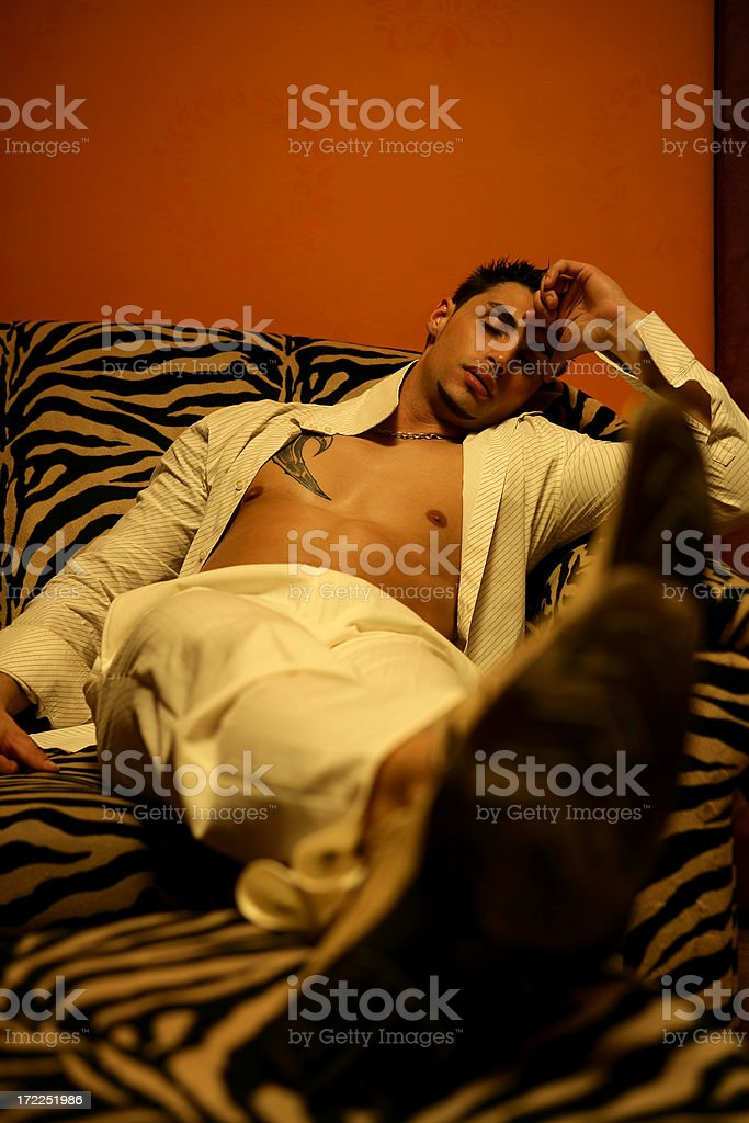 Relaxing at night club royalty-free stock photo