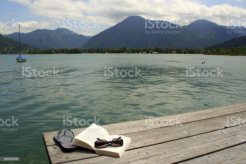 Relaxing at Tegernsee stock photo