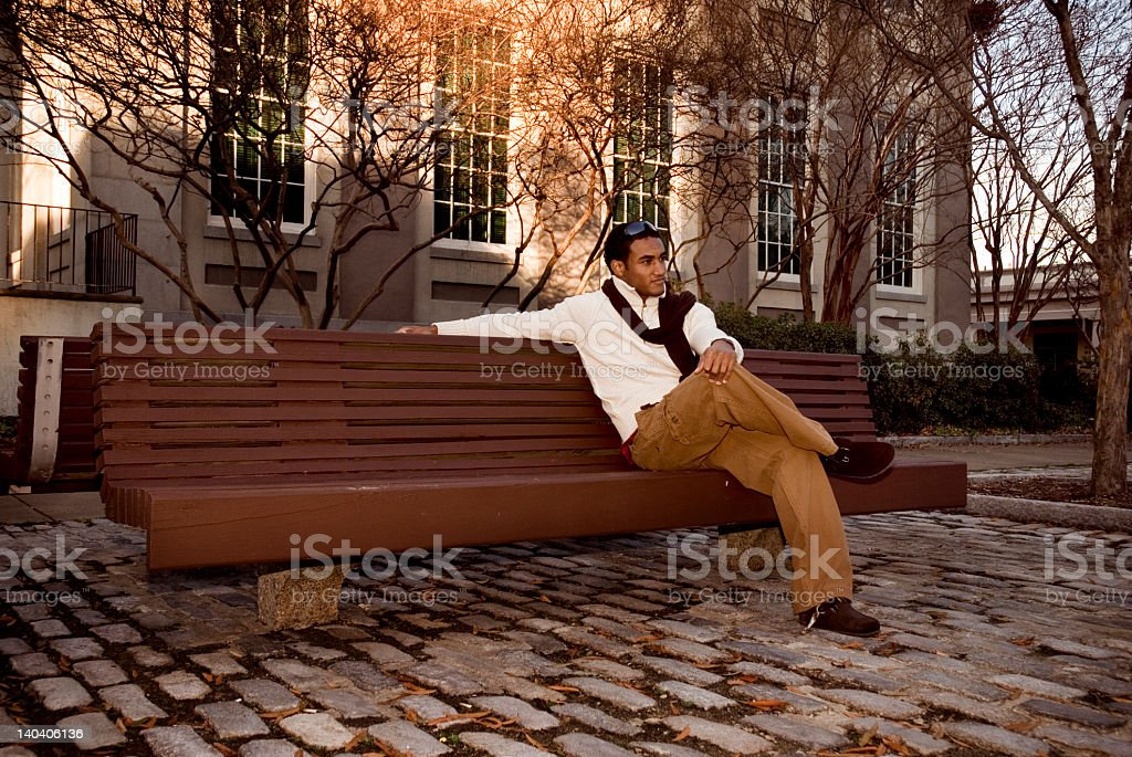 Relaxing at th chair royalty-free stock photo