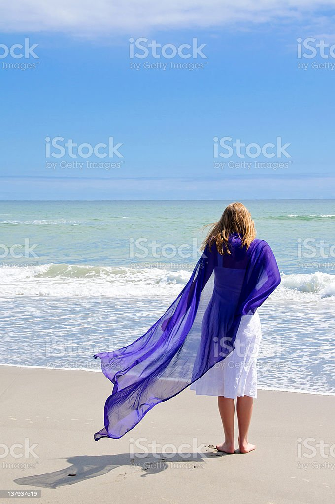 Relajante en la playa foto de stock libre de derechos
