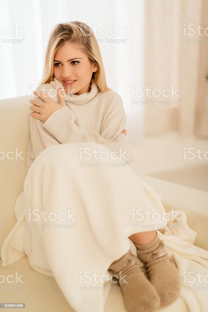 Relaxing At The Home stock photo