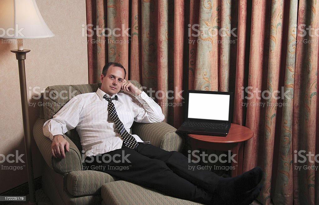 Relaxing at the hotel royalty-free stock photo