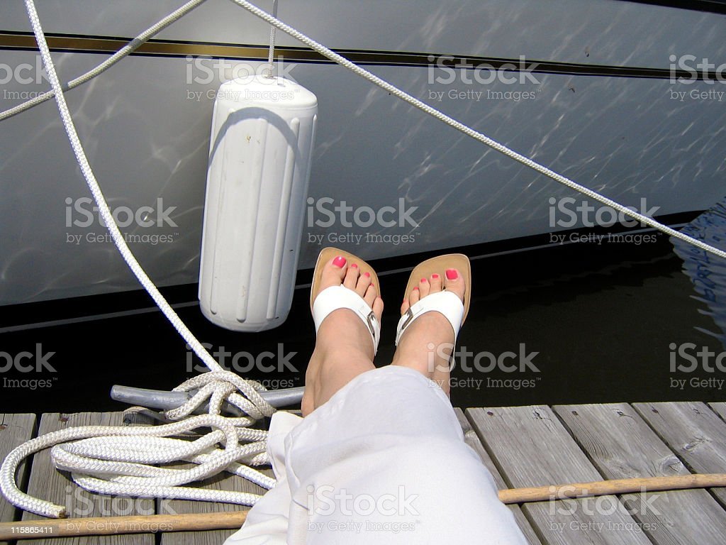 Relaxing at the Yacht Club royalty-free stock photo